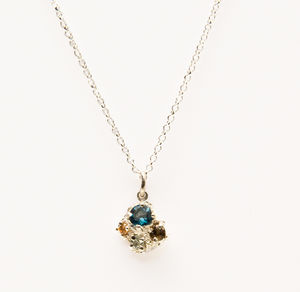 Cluster Topaz Pendant Necklace