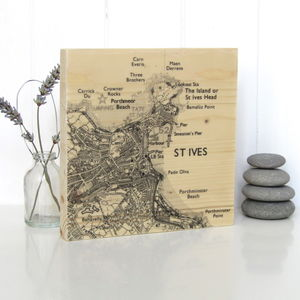 Personalised Map Timber Artwork - gifts for her
