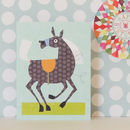 Horse Mini Greetings Card