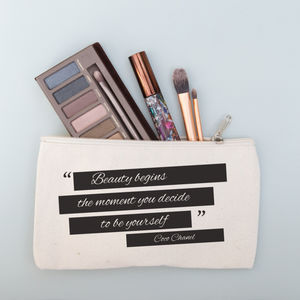 Personalised Quote Make Up Purse