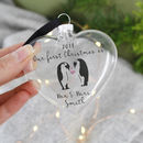 First Christmas As Mr And Mrs Penguin Bauble Keepsake