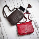 Ladies Leather Cross Body Satchel