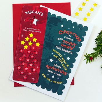 Advent Greeting Card With Bookmark