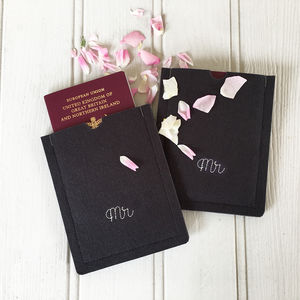 Couples Personalised Passport Holders