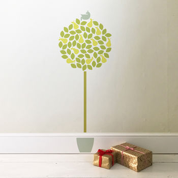 Partridge In A Pear Tree Vinyl Wall Sticker