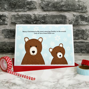 'Daddy / Papa Bear' Personalised Christmas Card