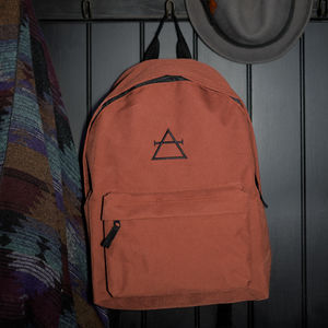 'Air' Alchemy Symbol Rust Backpack - bags