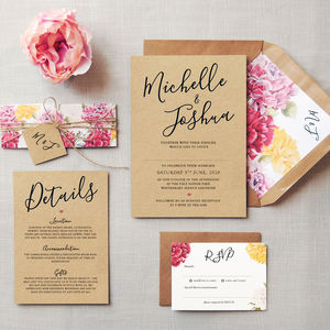 L'amour Wedding Invitations