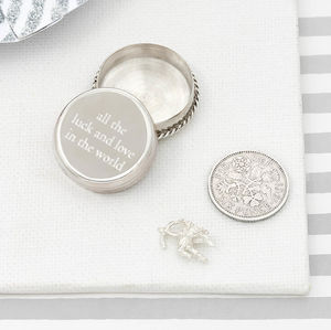 All The Luck And Love Silver Christening Keepsake Box - christening gifts