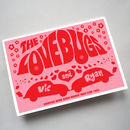 Personalised 'Love Bugs' Anniversary Or Birthday Card