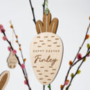 Personalised Wooden Easter Carrot Decoration
