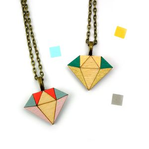 Geometric Diamond Necklace - necklaces & pendants