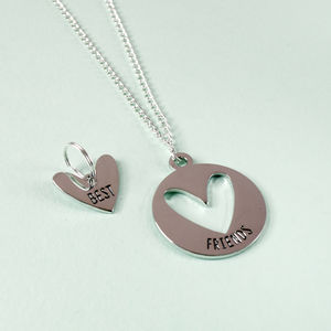 Best Friends Necklace And Pet Charm Set