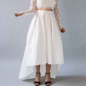Winnie High Low Hem Bridal Separates Skirt - wedding dresses
