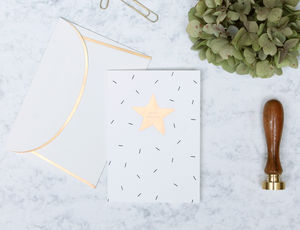 'Happy Birthday' Star Letterpress Greetings Card