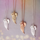 Personalised Angel Wing Charm Necklace