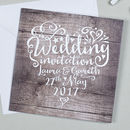 Heart And Soul Wedding Invitation
