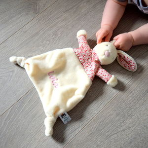 Personalised Petal Bunny Comforter Blanket - new baby gifts
