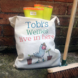 Personalised Welly Boot Bag