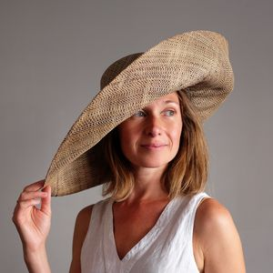 Large Brim Fold Up Straw Hat