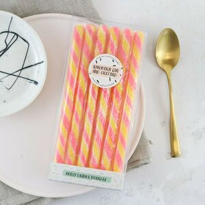 Rhubarb Gin And Custard Drink Stirrers