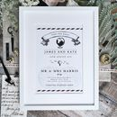 Vintage Travel Wedding Anniversary Print
