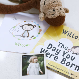 'The Day You Were Born' Personalised New Baby Book - christening gifts