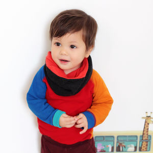 Unisex Merino Wool Kids Snood Scarf