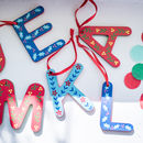Retro Folksy Painted Wooden Letter Decorations