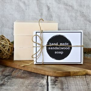 Handmade Sandalwood Soap Bar - bath & body