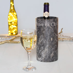 'Time To Chill' Marble Wine Cooler