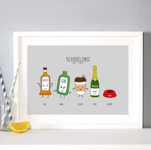 Personalised Family Print - gifts for him