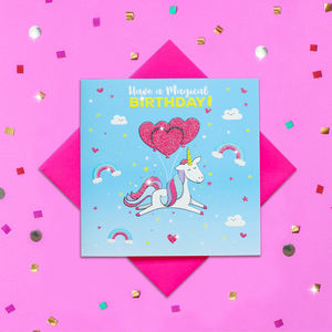 Glitter Have A Magical Birthday Unicorn Card