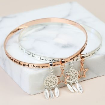 'Precious Daughter' Meaningful Quote Bangle