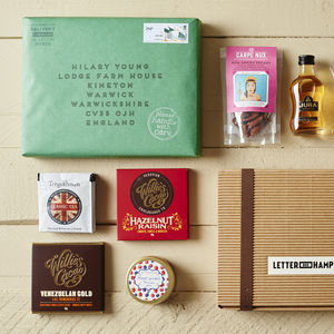 Best Of British Letter Box Hamper W Single Malt Whisky - personalised