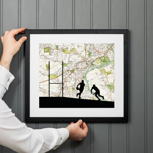 Personalised Rugby Map Print
