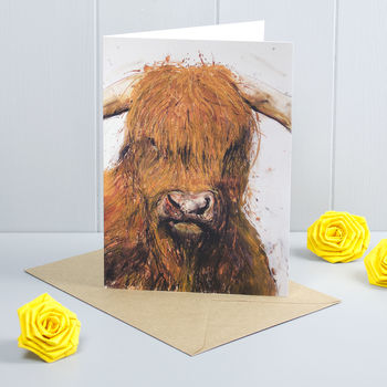 Highland Cow Greeting Card Agnes