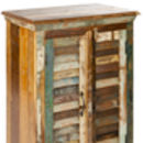 Reclaimed Wood Two Door Shutter Cabinet