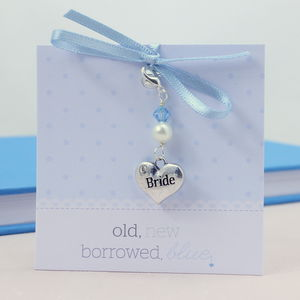 Something Blue Brides Heart Charm - women's jewellery