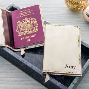 Metallic Passport Holder - gifts for her