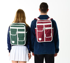 Multi Pocket Retro Backpack - bags