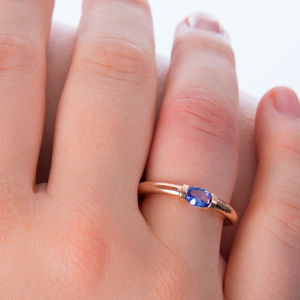 Gold Tension Ring - engagement rings