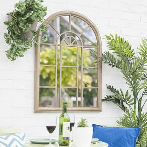 Antique Natural Garden Mirror