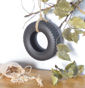 Ceramic Tyre Birdfeeder And Seed Set - what's new