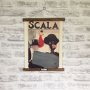 Retro Scala Opera Print With Oak Hanger