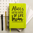 Personalised Life Lessons Notebook