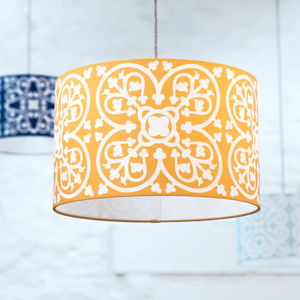 Moroccan Tile Lampshade In Mustard - lighting