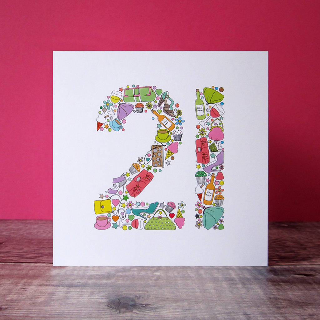 Girlie Things 21st Birthday Card By Mrs L Cards