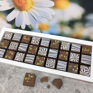 Mosaic Chocolate Gift With Bees And Daisies For Mum