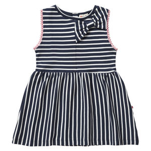 Blue Stripe Bow Dress - clothing